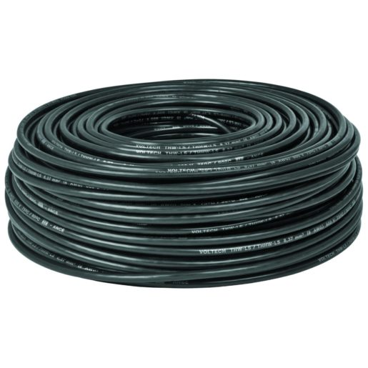 Volteck, Cable Thhw-Ls 14 Awg Negro 100 m, Caja
